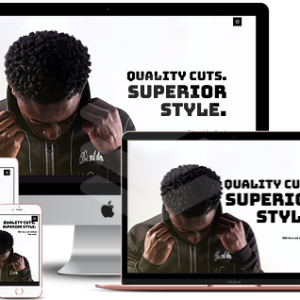 Barber Website by Kendra Nix Agency