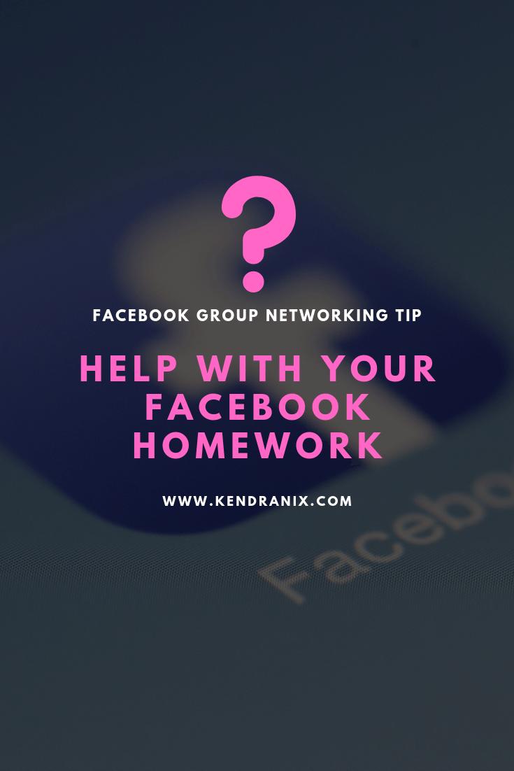 Facebook Group Tip